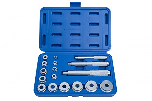 Blue Spot Tools 07901 Kit de guía de rodamiento y Sello, Plata, Set de 17 Piezas