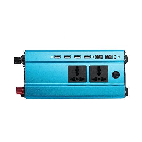 Rosepoem Inversor de energía DC 24V a AC 220V Inversor Solar de Onda sinusoidal Pura 4000W