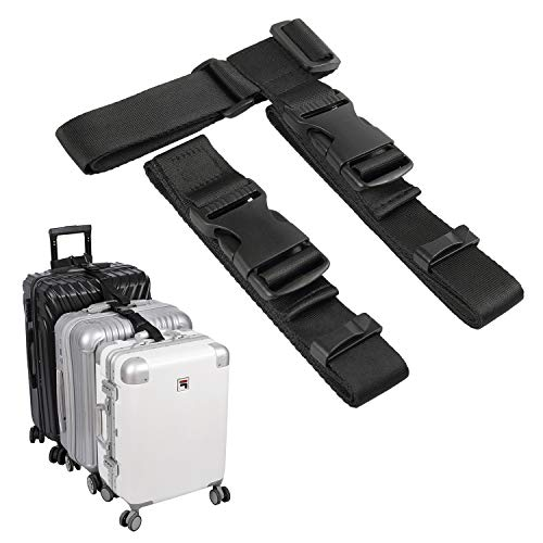 of travelambo luggages luggage connector straps for suitcase add a bag adjustable attachment accessories 1.25