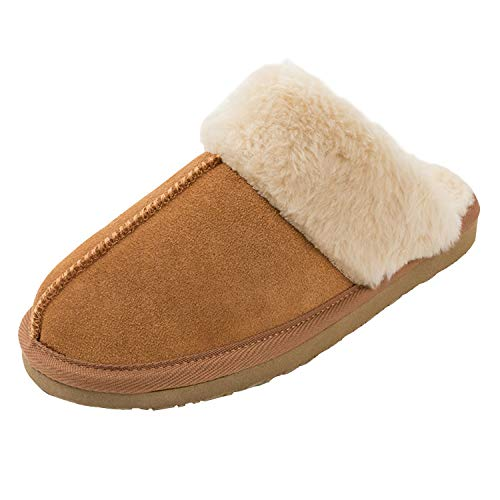 Minnetonka Women's Chesney Scuff Flat,Cinnamon,6 M US