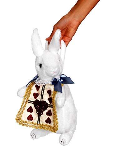 Horror-Shop Weiße Kaninchen Handtasche als Kostümzubehör