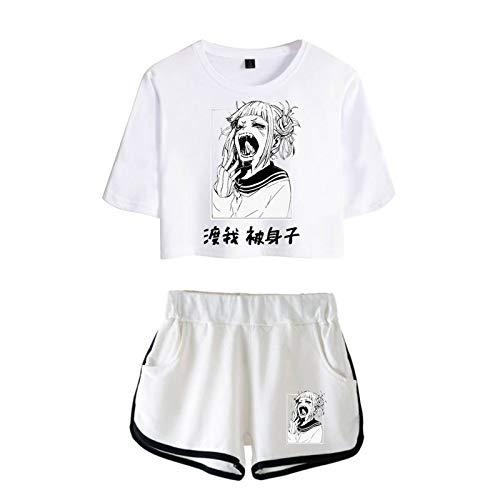 JHDESSLY Conjunto de camiseta feminina My Anime Hero Academia duas peças Top Suit XXS-4GG, Mutil2, XG
