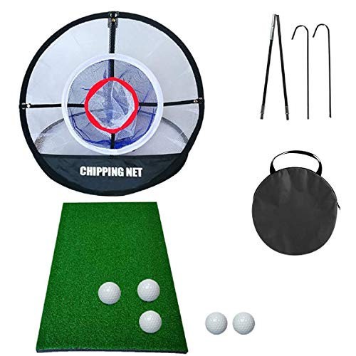 Juego de red para chipping Golf Elite para chipping, red de golf pop up, esterilla de golf para Pitc