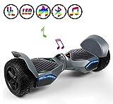 Huanhui Skateboard Électrique 6.5 Pouces Puissance 600W avec LED, Gyropode Auto-Équilibrage de...
