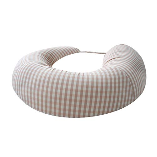 ZZBB Nursing, Breastfeeding Baby Support Pillow, Newborn Infant Feeding Cushion Portable for Travel Nursing Pillow for Boys & Girls with Washable Zippered Bamboo Pillow Covered,B