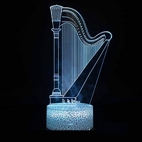 Musical Instruments Series Music Note Band Rock Guitar Orchestra 3D Table Led Table Lamp Creative Kids Gift Night Light Novelty Decoration