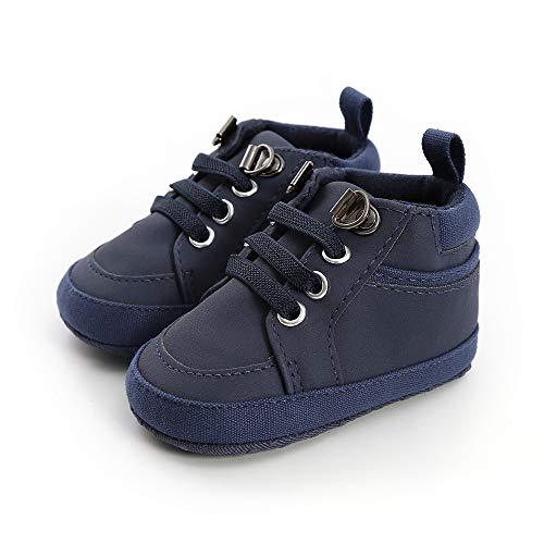 Geagodelia Zapatillas de gimnasia para recién nacido, suela suave, antideslizante, de color liso, alta calidad, para primeros caminatas, a la moda, otoño, turquesa, 12-18 Meses