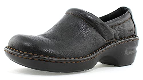 Born Women's B.O.C Peggy Leather Clog, Black, 10 B(M) US