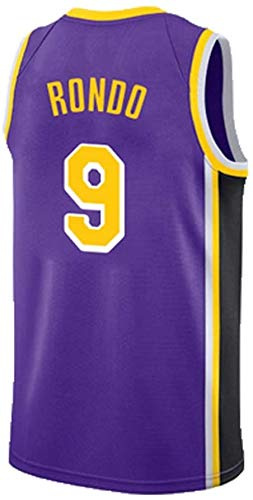 JAG Rajon Rondo 9# Basketball Jersey New Season Uniforme Maschile, Abito Los Angeles Lakers NBA, Smanicato Unisex, XS -XXL