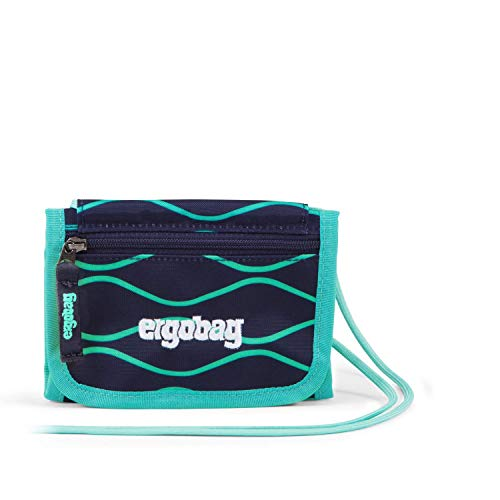 ergobag Unisex-Erwachsene Neck Pouch EnchantBear Elegant, Petrol Turquoise, Unica