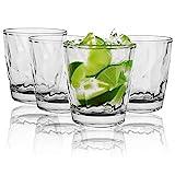 Vasos de agua,4 vasos reutilizables para cócteles,vasos de acrílico apilables,inastillables,portátiles para el hogar, restaurantes,fiestas, lavavajillas (transparente)