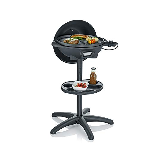 Severin PG 8541 - Barbecue da terra/grill (2.000 W, superficie grill, Ø 41 cm), colore: Nero