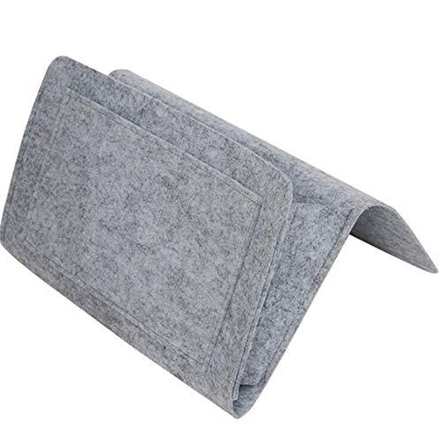 Figutsga Organizador de almacenamiento para colgar en la mesita de noche, de fieltro, color gris claro