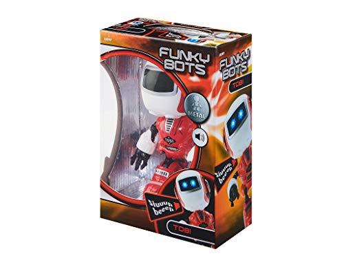 Revell Control 23397 Funky Bot TOBI, Kleiner Roboter zum Spielen und Liebhaben, mit lustigen Sounds Mini Roboterfigur aus Metall, rot