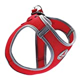 Kruz PET KZA306-14XL Reflective Mesh Dog Harness, No Pull, Quick Fit, Comfortable, Adjustable Pet Vest Harnesses for Walking, Training, Small, Medium Dogs - Red - X-Large