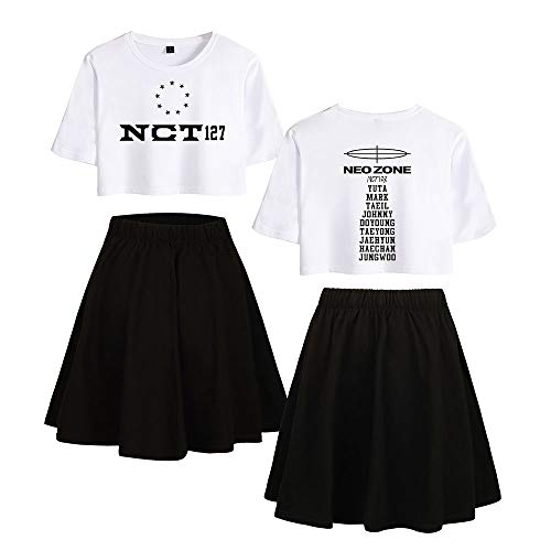 Landove NCT 127 Neo Zone Trainingspak Dames Crop Top en Rok Set
