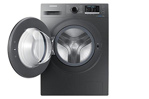 Samsung – Lavadora de acero inoxidable ww80j5555fx/EC autoportante de carga frontal 8 kg 1400 rpm – A + + + – Gris