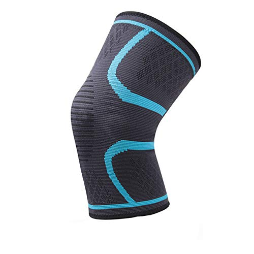 1 Nylon Elastic Sports Breathable Fitness Cycling Knee Pads - Sky Blue,XL