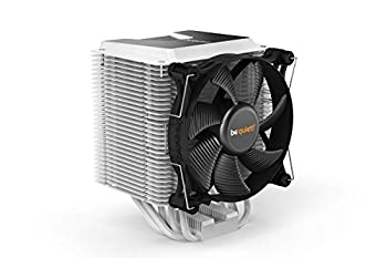 be quiet! BK005 Shadow Rock 3 White CPU Cooler 190W TDP decoupled Silent Shadow Wings2 120mm PWM high-Speed Fan Asymmetrical Construction avoids Blocking Memory Slots