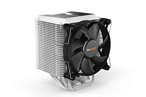 be quiet! BK005 Shadow Rock 3 White, CPU Cooler, 190W TDP, decoupled Silent Shadow Wings2 120mm PWM high-Speed Fan, Asymmetrical Construction avoids Blocking Memory Slots
