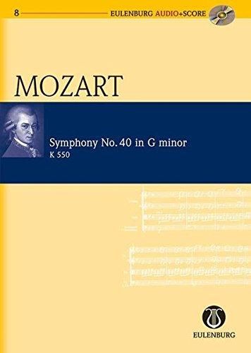 Sinfonie Nr. 40 g-Moll: KV 550. Orchester. Studienpartitur + CD.