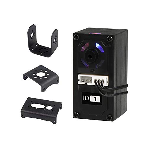 LX-15D High Torque Durable Full Metal Gear Serial Bus Servo with Real-Time Feedback of Position Voltage Temperature, RGB Color Indicator, Metal Horn, Bracket for Robot