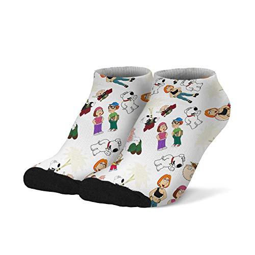 Men's Family-Guy- Socks Crew Running Low Cut Peter-Griffin-Irish-Former-Safety-Inspector- Socks Comfortable