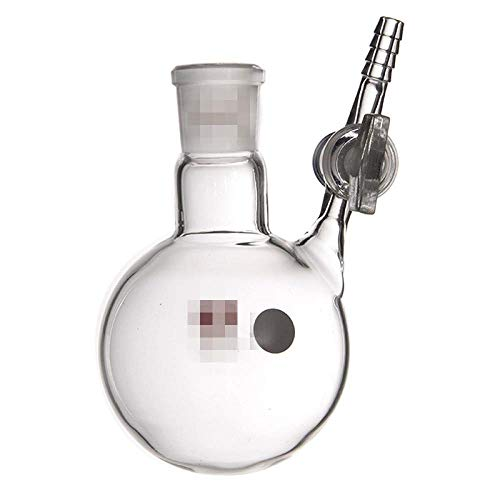 Sferische reactie-fles met glazen zuiger 100 250 500 1000 2000ML met glazen klep 100ml