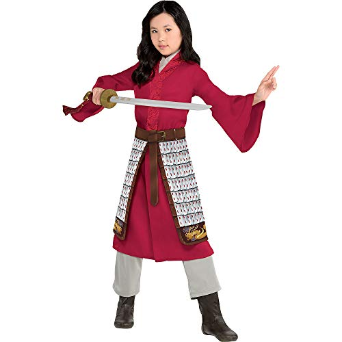 Party City Disney Live Action Mulan Halloween Costume for Kids, Small, Includes Dress, Pants and Skirt, Pretend Play