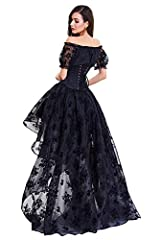 COSWE Skirt Irregular Steampunk Cocktail Party Gothic Skirts for Women, UK 18-20/4XL, Skirt-black #2