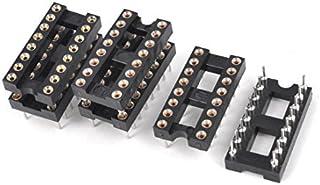 DealMux 6 Stuks 2.54mm Pitch 16 Ronde Pinnen Dubbele Rij DIP IC Socket Adapter Soldeer