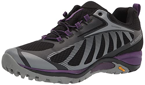 Merrell womens Siren Edge 3 Waterproof Hiking Shoe, Black/Acai, 10 Wide US