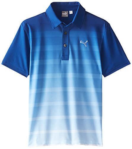 Puma Golf Junior niños GT Titan polo a rayas para hombre - 56905601, Azul (Sodalite Blue)