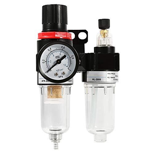 Eurobuy 1/4 Kompressor öl Luftfilter Luftdruckregler mit Schmierbecher Öl-Wasserabscheider-Filter-Airbrush-Kompressor öl für Druckluftwerkzeugsystem
