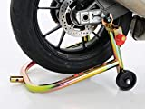 Pit Bull Motorcycle Stand, SS Rear Sportbike Stand for Spools and/or Swingarm Lift (w/Removable Handle) fits Suzuki, Yamaha, Kawasaki, Honda, Ducati, BMW, Triumph