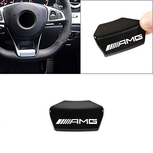 LLKUANG Zinc Alloy AMG Steering Wheel Emblem Decor Decal Sticker Badge Decoration AMG Logo For Mercedes-Benz A B C E Class GLA CLA GLC GLE GLS W213 W205 x253 (Square sports steering wheel)