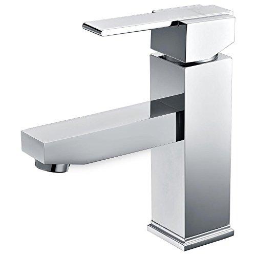 Chrome plaqué robinet évier de salle de bains Froid chaud robinet mélangé d'eau