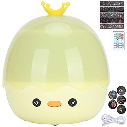 Jeanoko Lámpara de proyección, 1200 mAh batería noche luz proyector, 8 luz incorporada música ABS+PP material 6 juegos de películas para la familia para niños