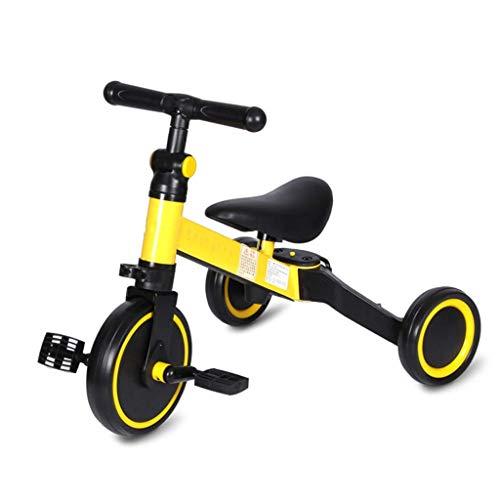 ZJZ Triciclos para niños, para niños de 1 a 3 años Triciclos 3 en 1 Triciclos para niños Ligeros con Pedal extraíble y Asiento Ajustable para niños y niñas