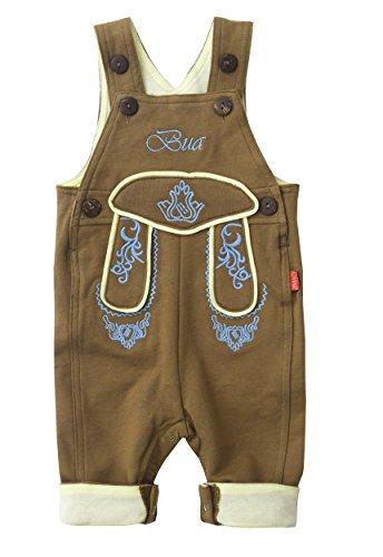Mogo.cc, BLH Babylederhose Bua, PIZ LANG, 62/68, 3-6 Mon. S, Stick blau