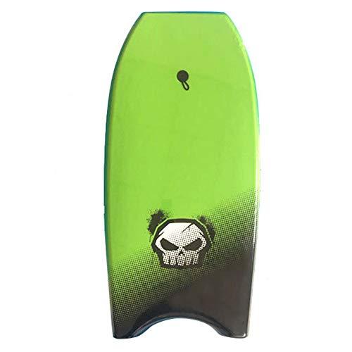 ZWW Bodyboard, Portátil Ligero Juvenil/Adulto Tablero De Surf De Cuerpo Superior con Correa para La Muñeca | Núcleo De EPS para Deportes Acuáticos/Natación/Parque Acuático,Verde
