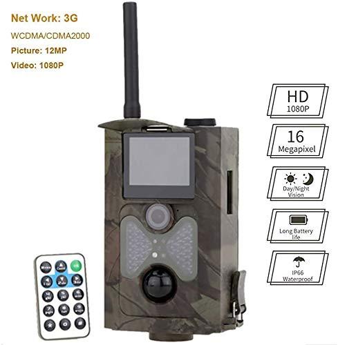 L.TSA Trampa de cámara de Vida Silvestre HD, 3G MMS Tiempo de activación de cámara de Caza a Prueba de Agua 0.5s Pantalla incorporada de 2 Pulgadas con visión Nocturna por Infrarrojos, para