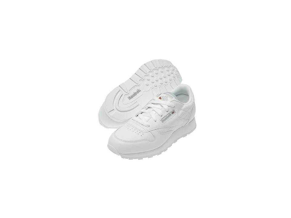 Reebok Kids Classic Leather (Big Kid) (White) Kids Shoes