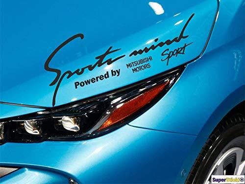 SUPERSTICKI® Mitsubishi Motors Sport Sports Mind Aufkleber ca 30 cm Aufkleber Sticker Decal aus Hochleistungsfolie Aufkleber Autoaufkleber Tuningaufkleber Racingaufkleber Rennaufkleber von SUPERSTI