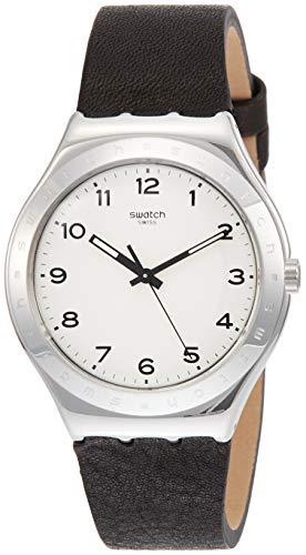 Swatch Reloj Analógico para Unisex Adultos de Cuarzo con Correa en Cuero YWS101