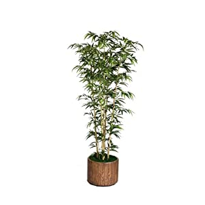 Vintage Home 77″ Tall Natural Bamboo Tree in 16″ Planter Artificial Plant
