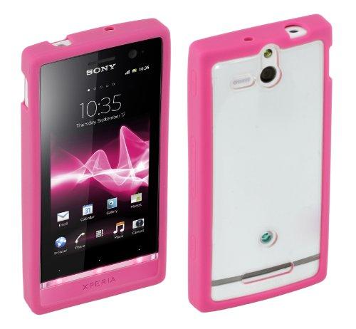 Sony Roxfit - Custodia Rigida per Xperia U, in Caoutchouc, Colore: Rosa