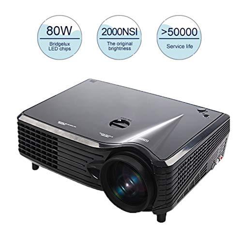 Beamer, mini-beamer, draagbaar, full HD 1080p en 180 inch, 50.000 uur afspeeltijd, compatibel met PC, Mac, TV, iPhone, iPad
