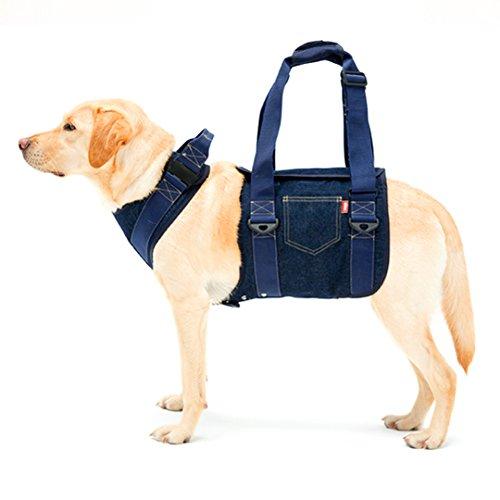 歩行補助ハーネス LaLaWalk 大型犬用 大型犬用 デニム[ブルー] (SS)