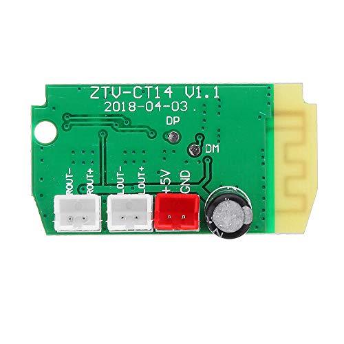 Módulo electrónico 3Wx2 Mini Bluetooth receptor módulo con 4 ohmios Altavoces Amplificador de Potencia de Audio Junta de decodificación MP3 3pcs módulo Equipo electrónico de alta precisión